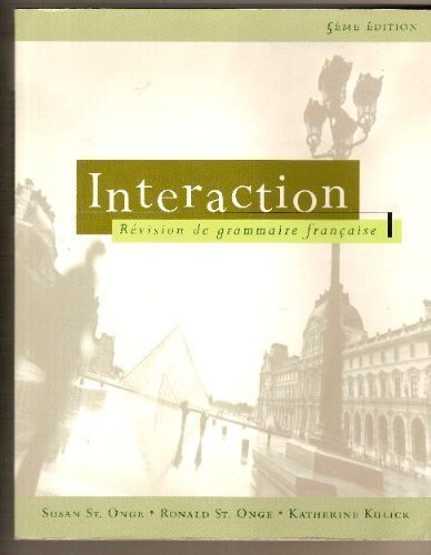 Interaction: Revision De Grammaire Francaise Student Kit
