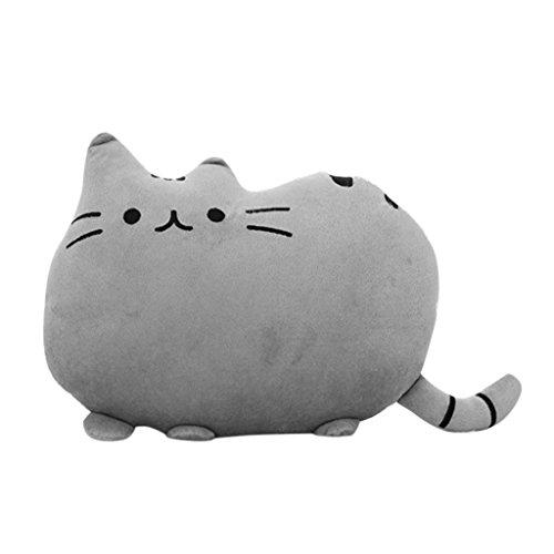 Weichem Plüsch Süße Katze Form Kissen kissenpolster Sofa Spielzeug Wohnkultur 5 Farbe (Grau)