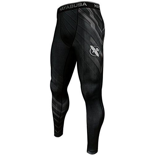Hayabusa Metaru Charged Mens Compression Pants (Large, - Rash Guard Hayabusa