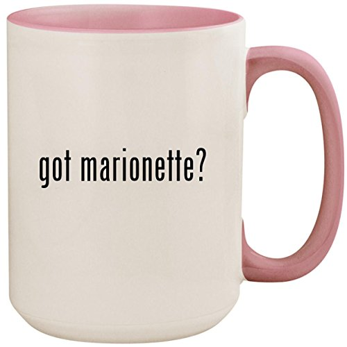 (got marionette? - 15oz Ceramic Colored Inside and Handle Coffee Mug Cup, Pink)