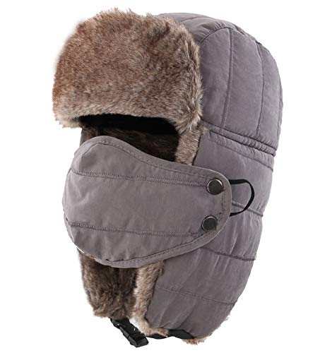 Connectyle Warm Trapper Hat Windproof Winter Russian Hats with Mask Ushanka Hat