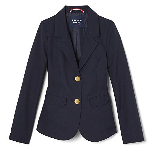 French Toast Girls' Big' Classic School Blazer, Navy,