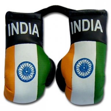India Flag Mini Boxing Gloves