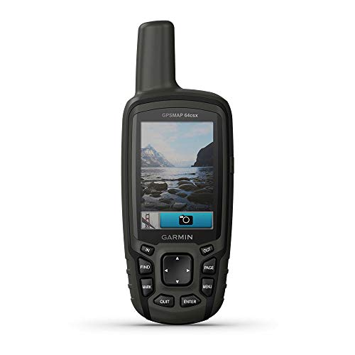 Garmin GPSMAP 64csx, Handheld GPS with Altimeter, Compass and 8 MP Camera, Preloaded with TopoActive Maps