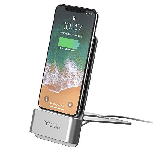 Phone Dock, KBTEL Phone Charging Stand Station Desktop Holder for Desk, Compatible iPhone 8 8 Plus, iPhone X, iPhone 7 7 Plus 6 6 Plus 5S, iPad, Support Charging with Case.
