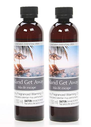 Hosley Set of 2 Island Get Away Fragrance Warming Oils 5 Ounce. Ideal Gift for Weddings spa Reiki Meditation Bathroom Settings. P1