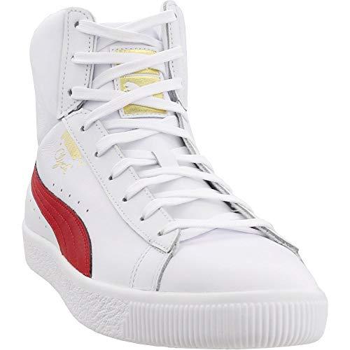 Cheap PUMA Clyde Mid Core Foil Puma White/Barbados 10 puma basketball shoes