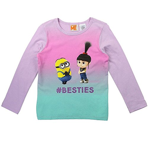 Despicable Me Little Girls' Minion Dave and Agnes Long Sleeve Tee (5)