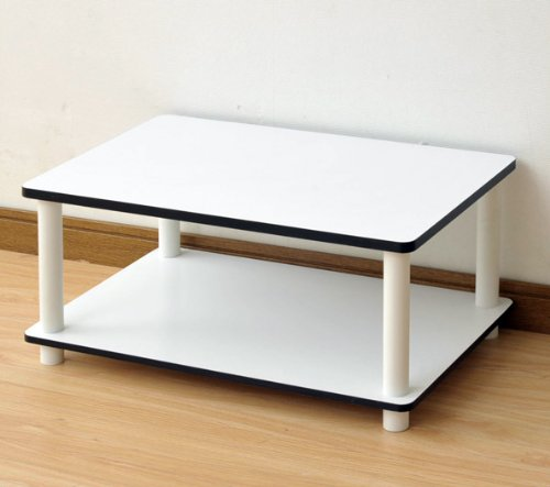 Amazoncom Furinno  Just Tier No Tools Coffee Table White - Furinno coffee table