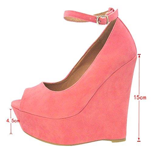 EKS - Zapatos de vestir para mujer Rosa