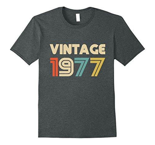 Mens Vintage 1977 40th Birthday Gift T Shirt for Men & Women Medium Dark Heather