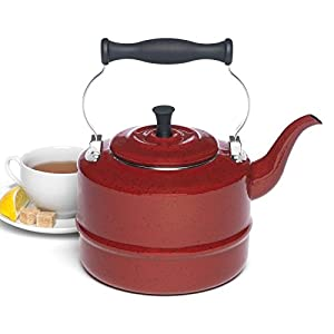 Paula Deen Signature Teakettles Percolators Teakettle in Red Speckle