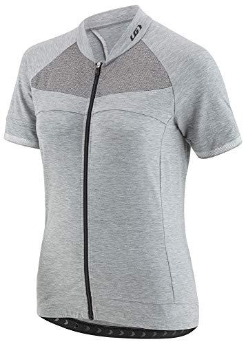 - Louis Garneau Women's Beeze 2 Lightweight, Short Sleeve, Full Zip Cycling Jersey, Heather Gray, Large