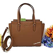 Kate Spade NY Medium Jackson Leather Satchel Purse - Gingerbread Brown