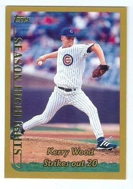 Kerry Wood baseball card (Chicago Cubs Pitcher) 1999 Topps #204 20 Strikeouts