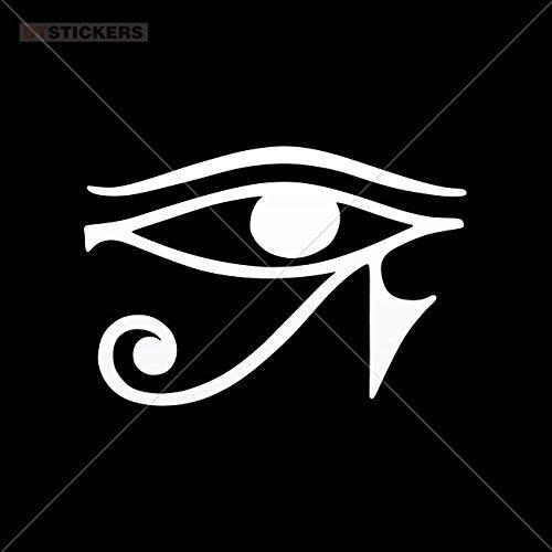 s Horus Eye Garage home window (4 X 2,72 In. ) Vinyl color White ()