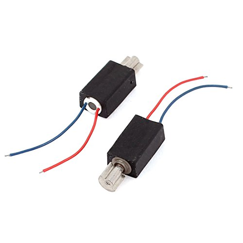 uxcell 2 Pcs Mini Micro Vibration Coreless Motor 8000RPM DC 1.3-7V for Phone