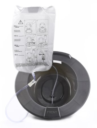 Sitz Bath 2000ml bag - 60''Tubing Mauve Poly Basin Fits Standard Toilets/Commodes by McKesson
