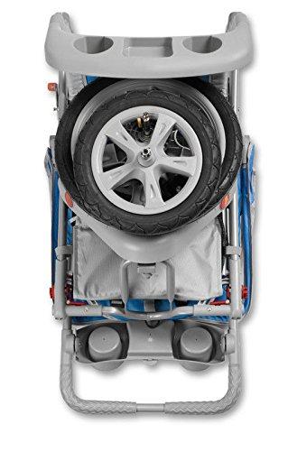 Brand New For Baby InStep Safari Single Swivel Wheel Baby Jogging Stroller - Blue/Grey | AR190