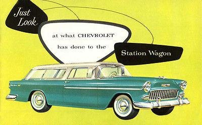 1955 Chevrolet Bel Air Nomad Station Wagon Promotional Advertising Poster