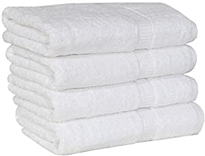 Utopia Extra Thick and Plush Bath Towels - White - Pack of 4
