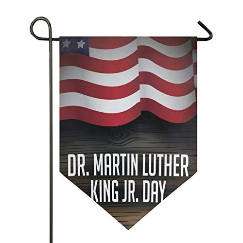 IDO Sweet Home Garden Flag Vertical Double Sided Spring Summer Fantastic Dr Martin Luther King JrOutdoor Yard Flags Decorative 12x18.5 in -
