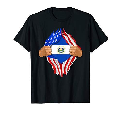 (Salvadoran Blood Inside Me T-Shirt | El Salvador Flag)