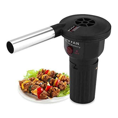 Fdit Soplador Poderoso Mini Ventilador de Aire de Baja Potencia Soplador para Acampar Al Aire Libre Picnic Parrilla de...