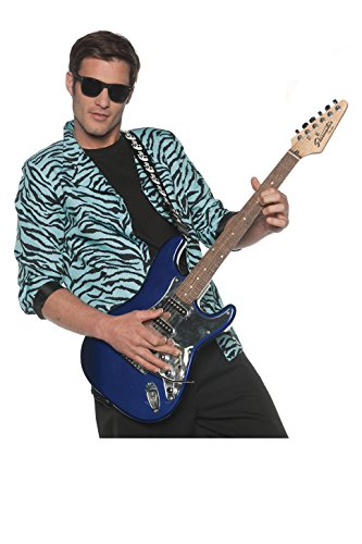 Men's 80's New Wave Costume Zebra Blazer - Blue, XX-Large