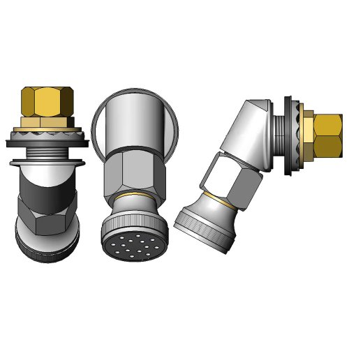 (T&S Brass B-2293-103-F12 Trough Inlet Fitting with Rose Spray Outlet and 1.2 GPM Flow Control)