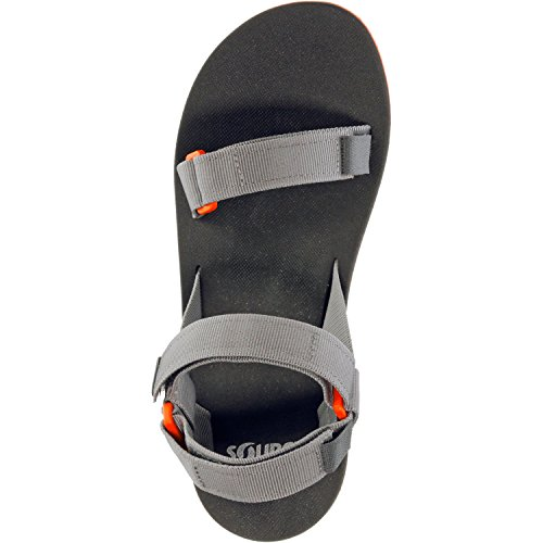 Source Homme Sandales Urban Gray Orange Sandales plat/101091 Go Gris