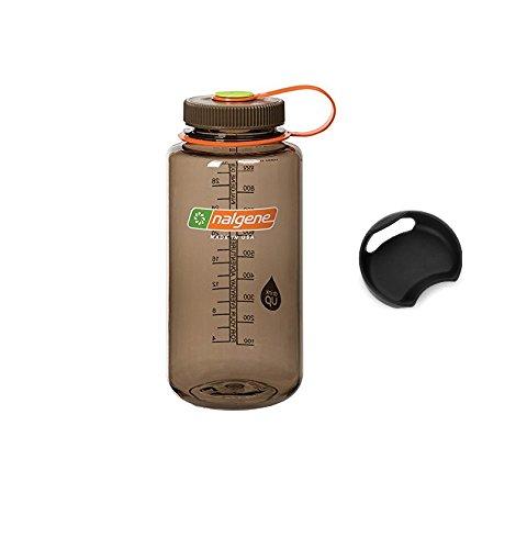 Bike A Mile Nalgene Tritan 32oz Wide Mouth BPA-Free Water Bottle Including A Removable SplashGuard (Woodsman, 32-Ounces)