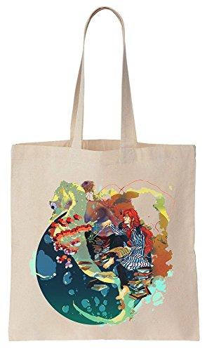 Bag Fujimoto Movie Bolsos Algodón Ponyo A Compras Tote de Original de Character Reutilizables Seahorse Design With xFpFAwq