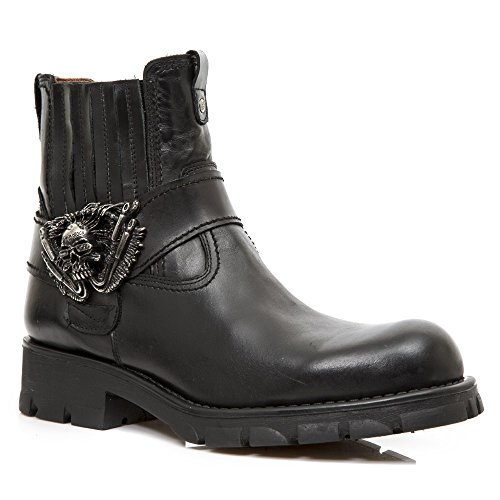 New Rock Mens M 7633 Gothic Leather Boots
