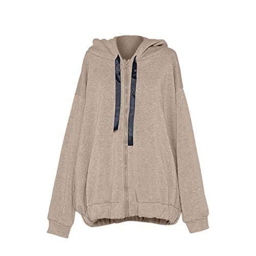 - Women's Loose Plus Size Zipper Thickening Plus Velvet Hoodie Sweater