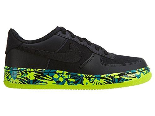 Nike Kids Air Force 1 Premium (gs) Chaussure De Basket Noir / Noir-volt-rio Sarcelle