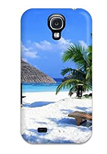 Galaxy S4 Hard Back With Bumper Silicone Gel Tpu Case Cover Artistic Awesome Tropical Beach