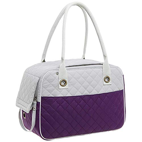 (Stylish 2 Tone Quilted Soft Sided Travel Dog And Cat Pet Carrier Tote Hand Bag Dogbag Small Dig 40 Dxg Ped 9 Gog Large 2pet Pocket Doe Pupp At High Corrior Crate Katziela Dg Pettote Sling Betop Puppy)