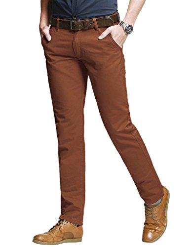 Match Men's Slim Tapered Stretchy Casual Pant (30W x