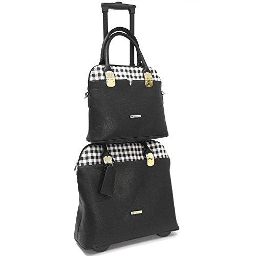 cabrelli-casey-checker-15-laptop-and-work-tote-set-black