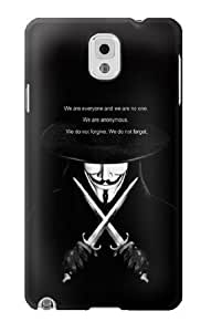 S0092 V Mask Guy Fawkes Anonymous Case Cover for Samsung Galaxy Note 3