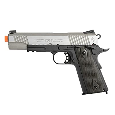 1007240 KWC Colt 1911 Rail Pistol Co2 Full Metal Blowback-Two Tone by Dreme Corp