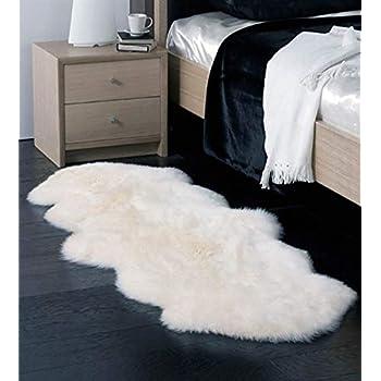 Amazon Com Double Australian Faux Sheepskin Fur Rug Long