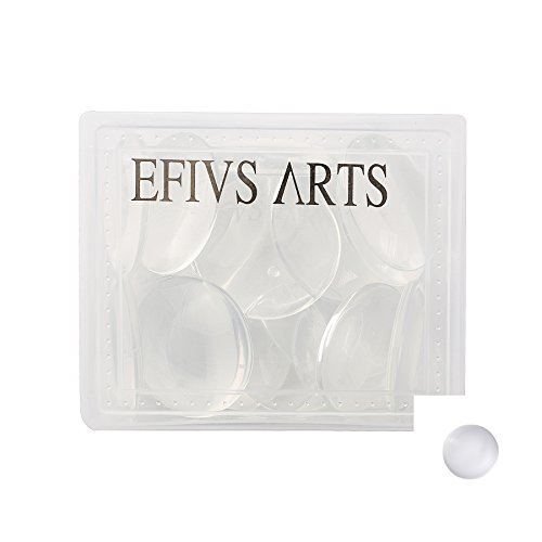 Efivs Arts 20 pcs Clear Glass Dome Tile Cabochon Half Round Flat Clear 1.57 inch (40mm) Non-calibrated Round For Photo Pendant Craft Jewelry Making - Round Glass Tiles
