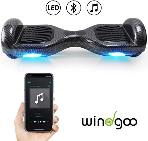 Windgoo Hoverboard 6.5″ Balance Board Bluetooth Patinete Eléctrico Scooter Talla LED, Scooter eléctrico Self-Balance