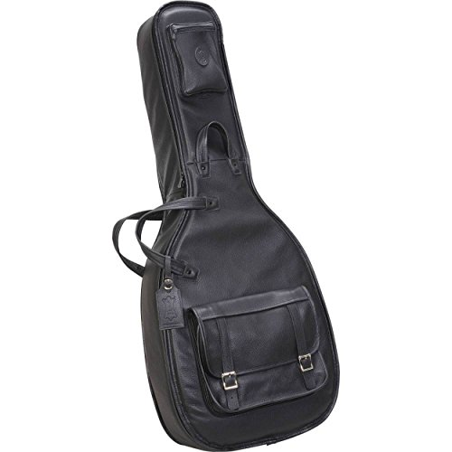 Levy's Leathers LM20-BLK Leather Deluxe Acoustic Guitar Bag, Black ()