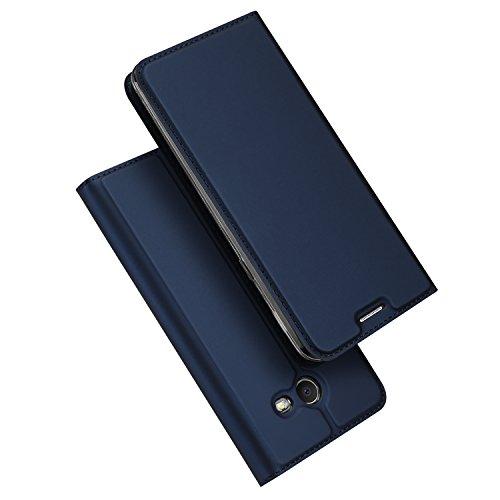 Samsung Galaxy J7 V Case, Galaxy J7 Perx Case, DUX DUCIS Skin Pro Series Ultra Slim Layered Dandy,Kickstand,Magnetic Closure,TPU Bumper,Full Body Protection for Galaxy J7 2017 (Deep Blue)