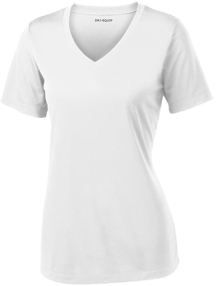 Joe's USA Women's Short Sleeve Moisture Wicking Athletic Shirt-White-4XL by Joe's USA