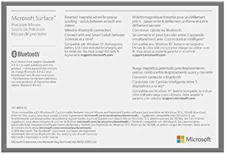 Microsoft Surface Precision Mouse, Light Grey