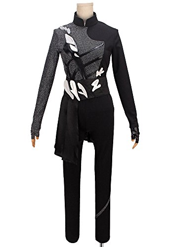 Female Loincloth Costume (YURI!!! on ICE Katsuki Yuri Eros Black Performance Cosplay Costume Custom Made (Women XL))